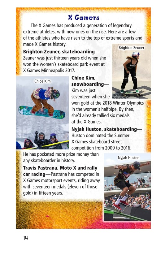 Book Preview For X Games Page 14