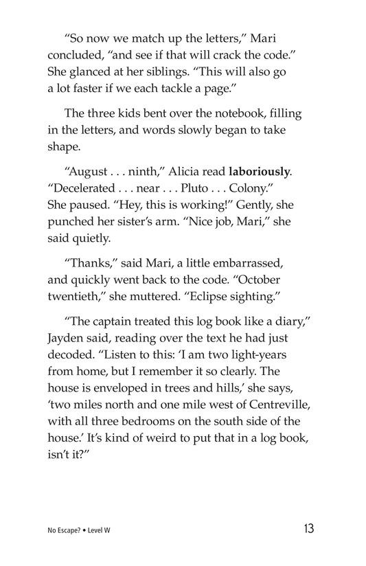 Book Preview For No Escape? Page 13
