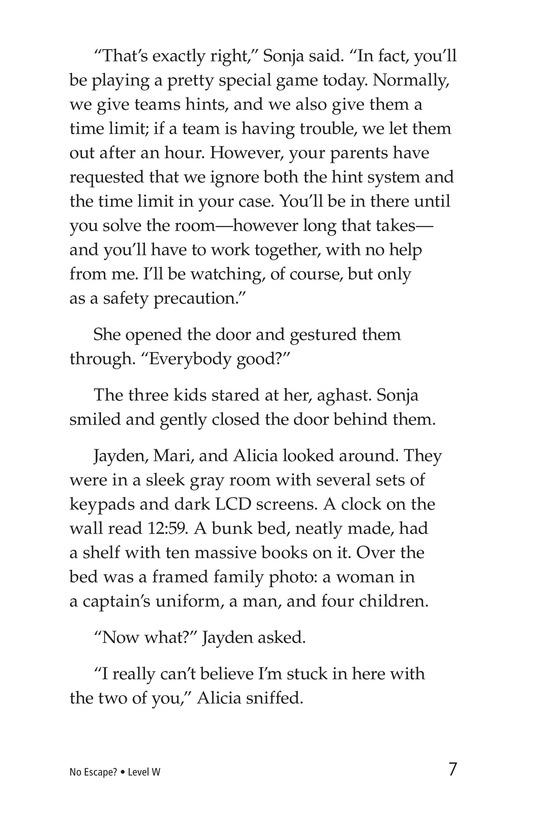 Book Preview For No Escape? Page 7