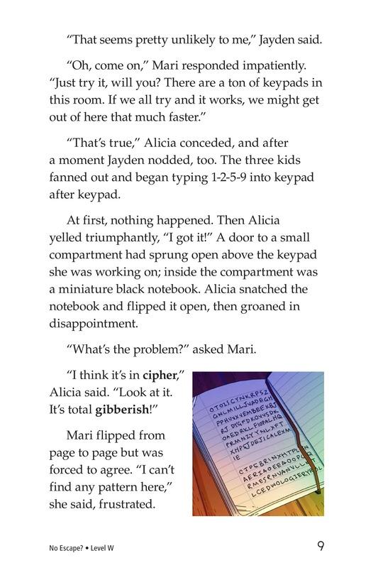 Book Preview For No Escape? Page 9