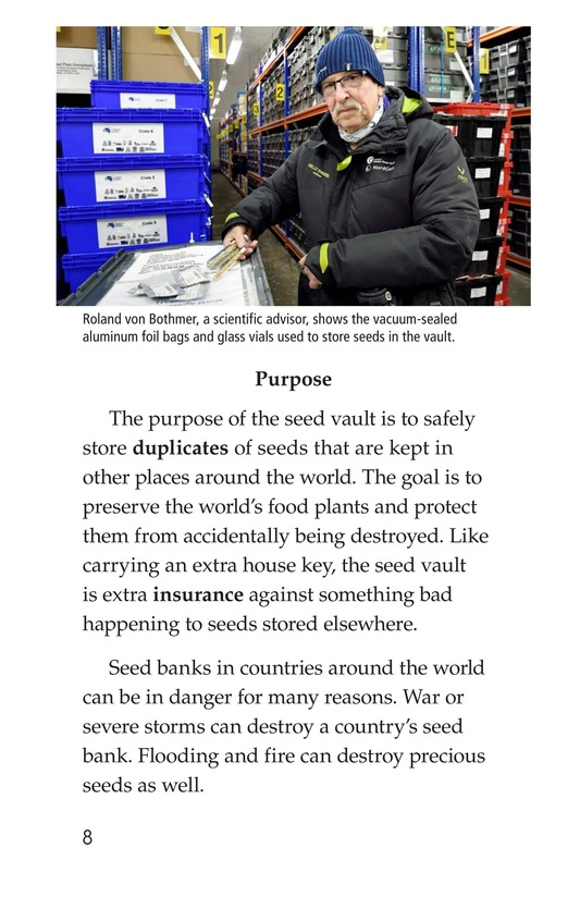 Book Preview For The Arctic Seed Vault Page 8