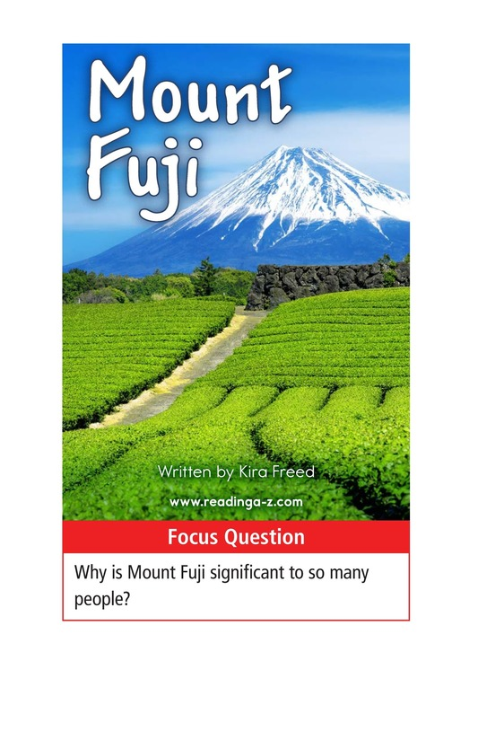 Book Preview For Mount Fuji Page 1
