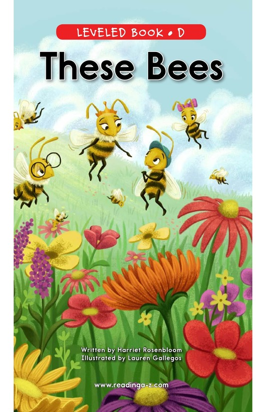 Book Preview For These Bees Page 0