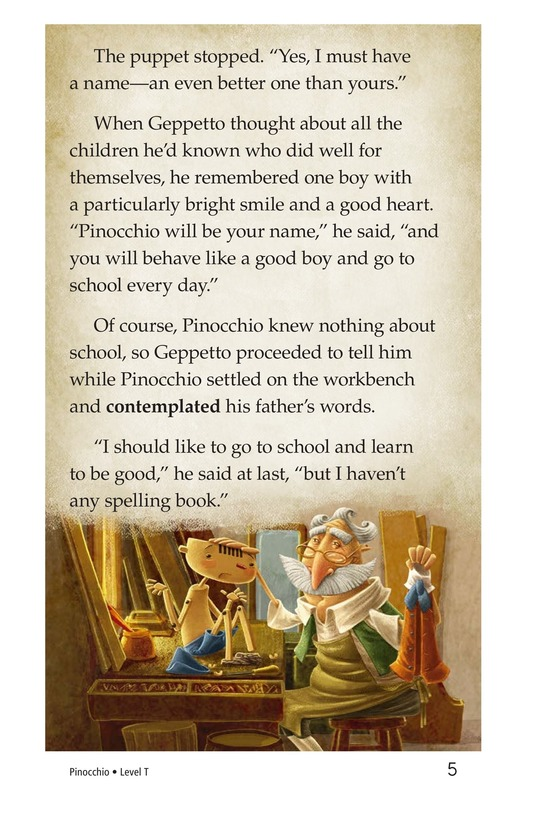 Book Preview For Pinocchio, Part 1 Page 5