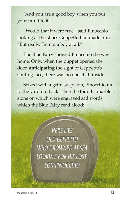 Book Preview For Pinocchio, Part 2 Page 13