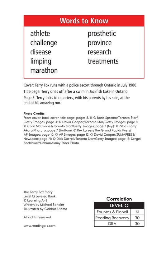 Book Preview For The Terry Fox Story Page 2