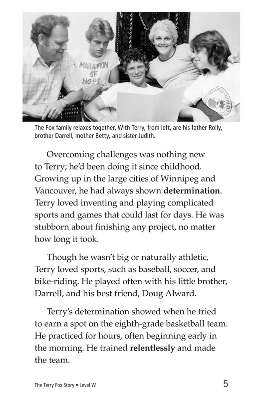 Book Preview For The Terry Fox Story Page 5