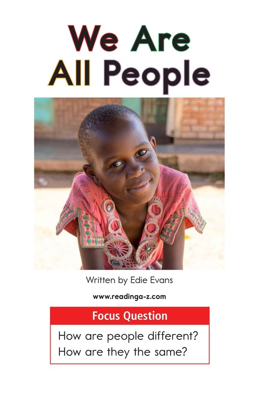 Book Preview For We Are All People Page 1