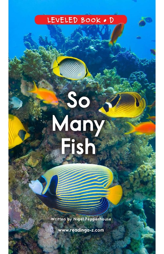 Book Preview For So Many Fish Page 0
