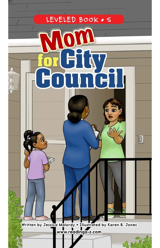 Book Preview For Mom for City Council Page 0