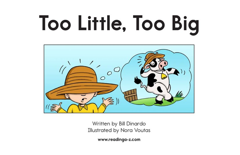 Book Preview For Too Little, Too Big Page 2
