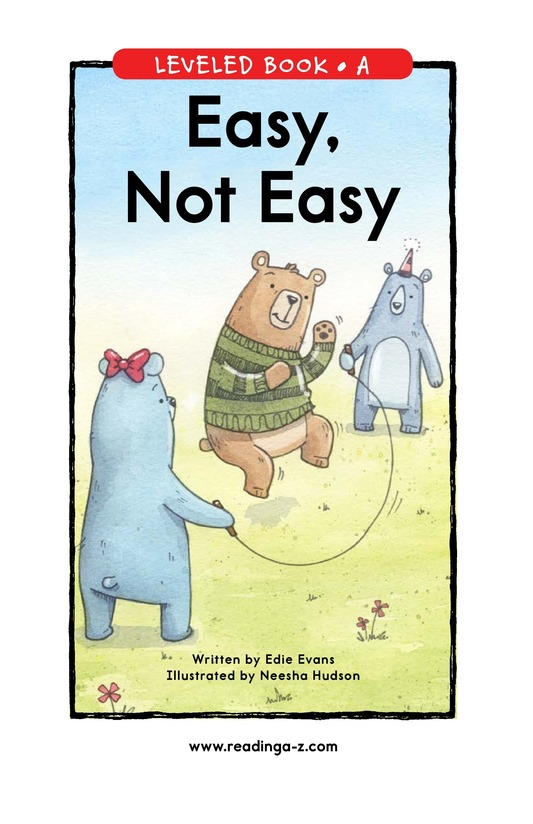 Book Preview For Easy, Not Easy Page 0