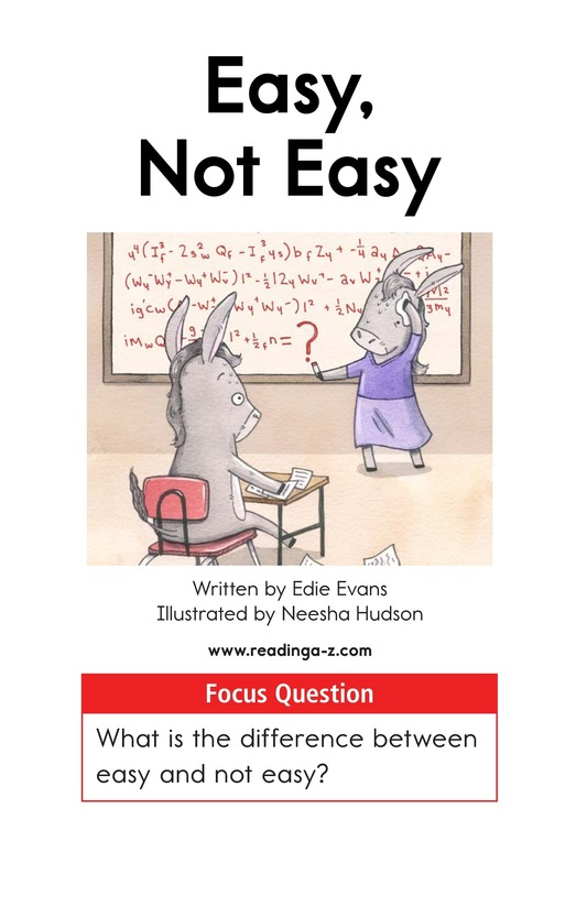 Book Preview For Easy, Not Easy Page 1