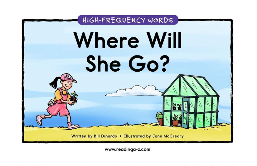 Book Preview For Where Will She Go? Page 1