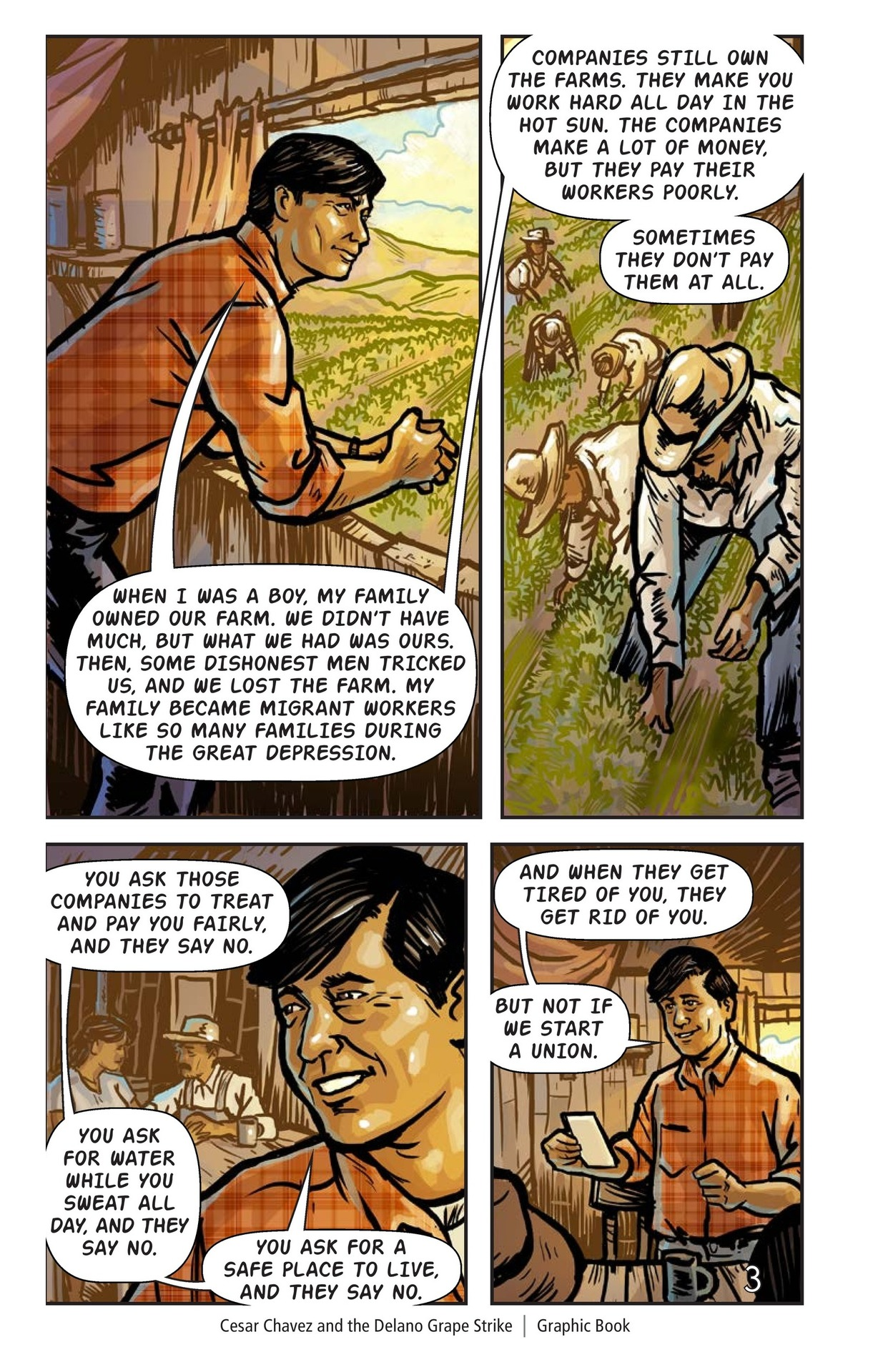 Book Preview For Cesar Chavez and the Delano Grape Strike Page 4