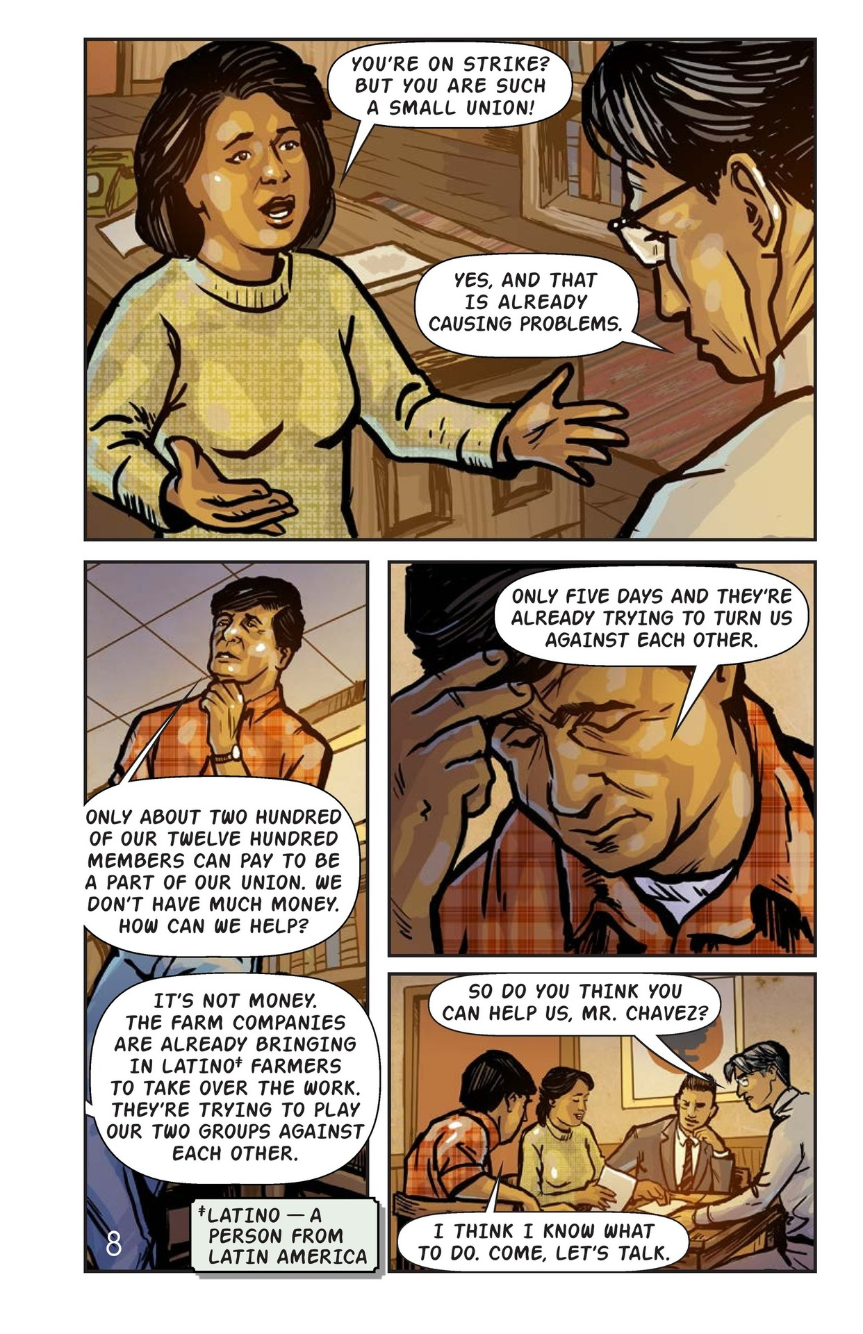Book Preview For Cesar Chavez and the Delano Grape Strike Page 9