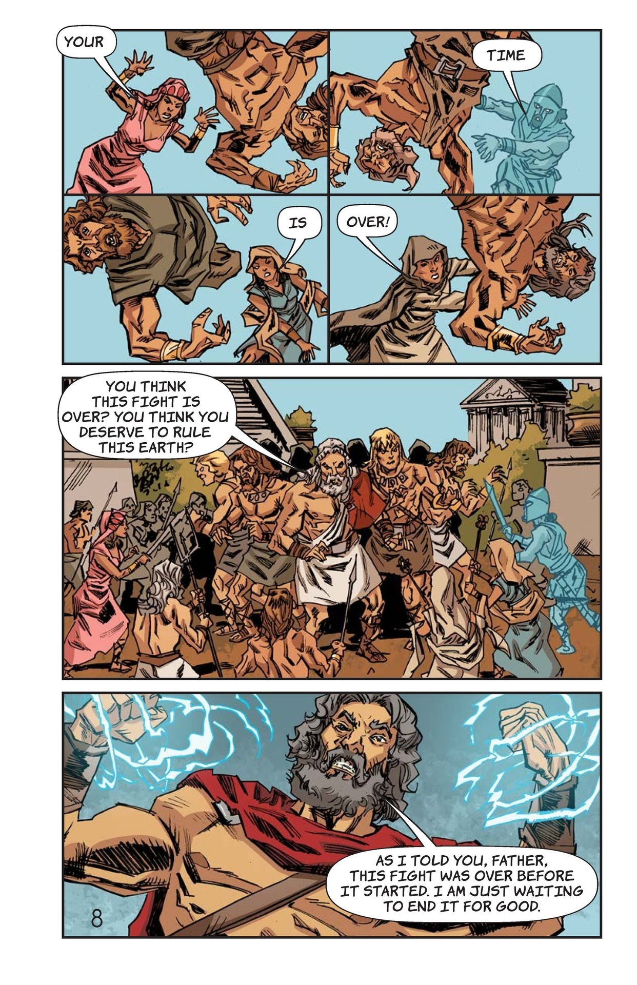 Book Preview For Defeat of the Titans Page 9
