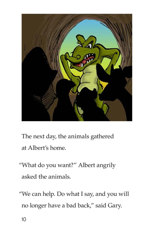 Book Preview For Albert the Angry Alligator Page 10