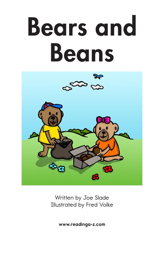 Book Preview For Bears and Beans Page 2