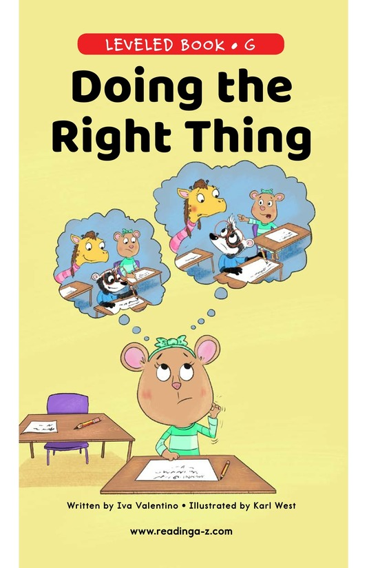 Book Preview For Doing the Right Thing Page 0