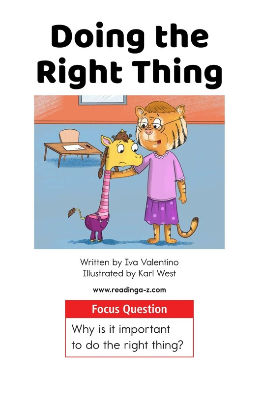 Book Preview For Doing the Right Thing Page 1