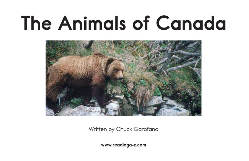 Book Preview For The Animals of Canada Page 2