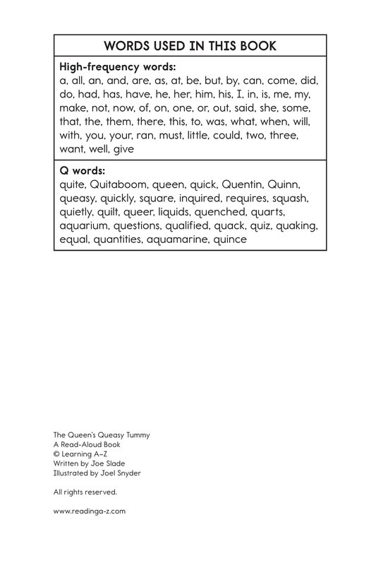 Book Preview For The Queen's Queasy Tummy Page 11