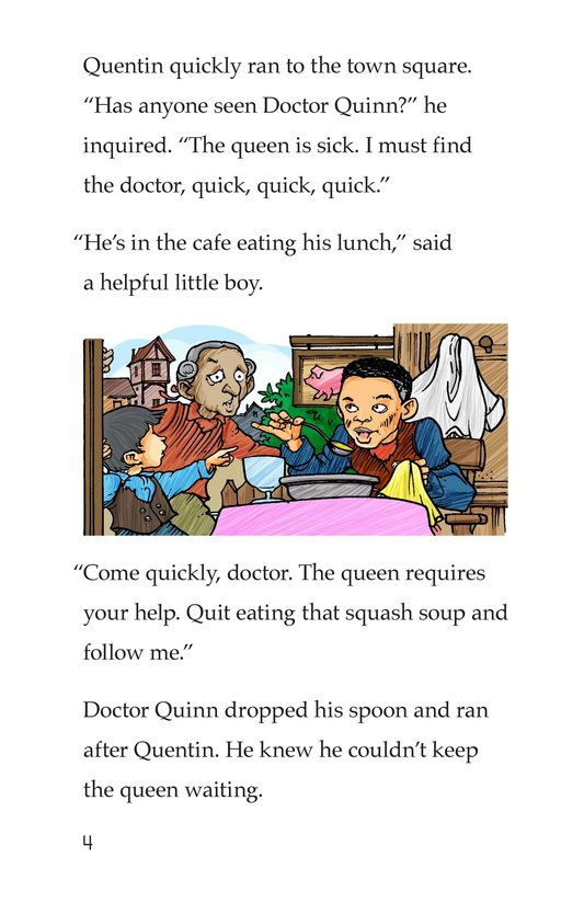 Book Preview For The Queen's Queasy Tummy Page 4