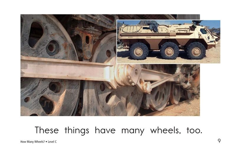 Book Preview For How Many Wheels? Page 9