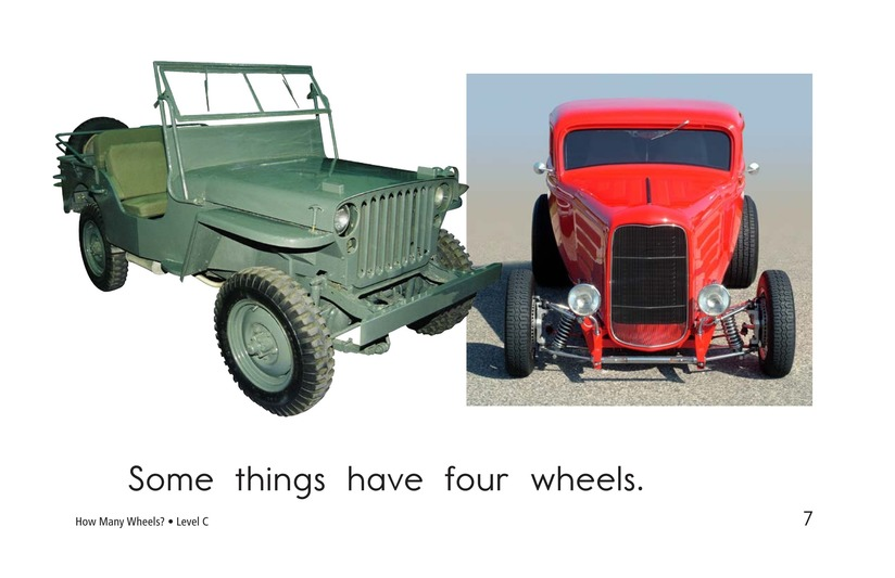 Book Preview For How Many Wheels? Page 7
