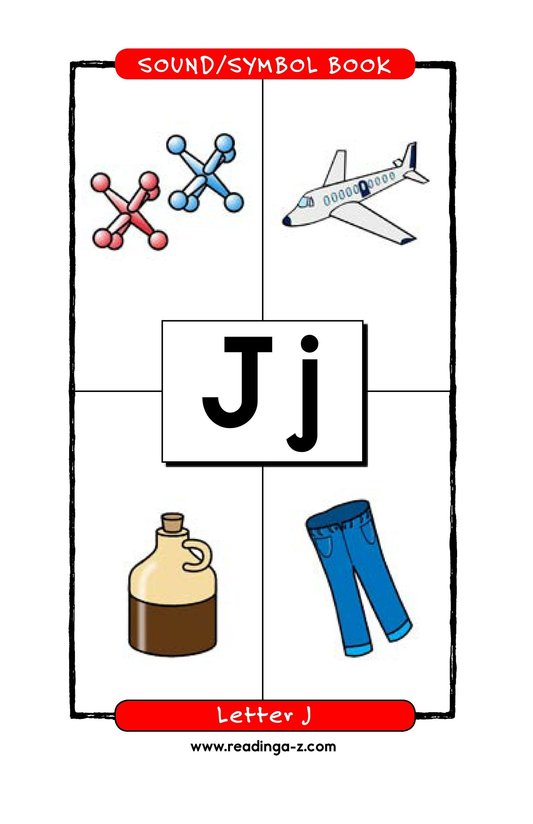 Book Preview For Consonant Letter J Page 1