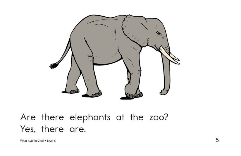 Book Preview For What Is at the Zoo? Page 5