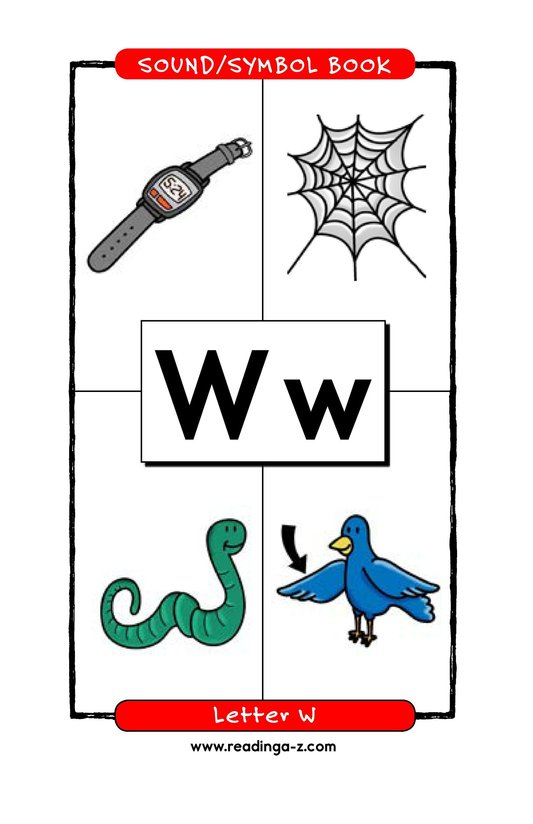 Book Preview For Consonant Letter W Page 1