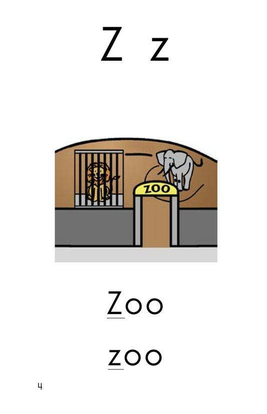 Book Preview For Consonant Letter Z Page 5