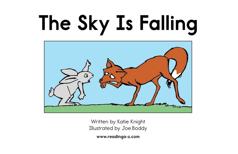 Book Preview For The Sky Is Falling Page 2