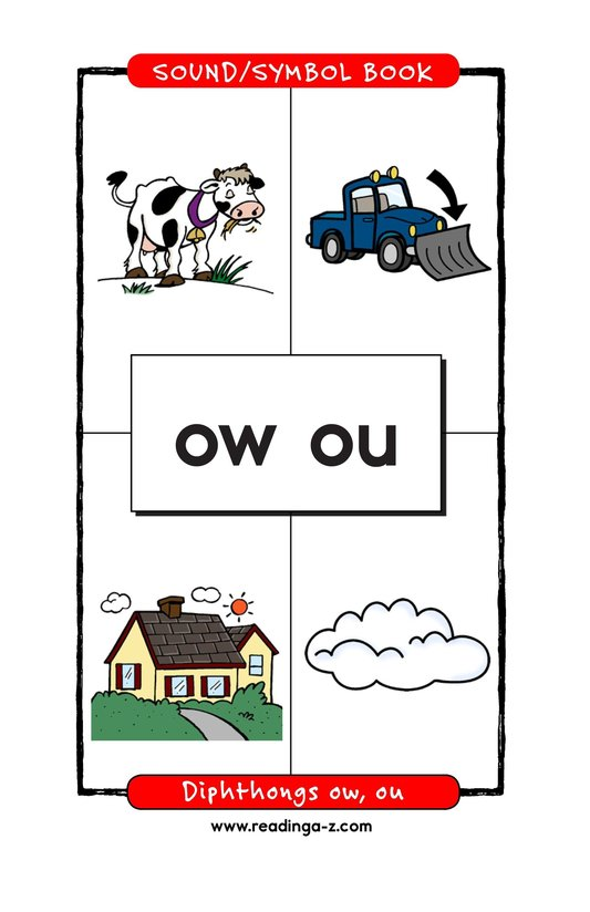 Book Preview For Diphthongs ow, ou Page 1