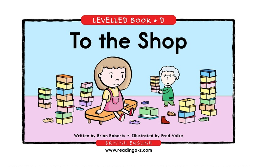 Book Preview For To the Store Page 1