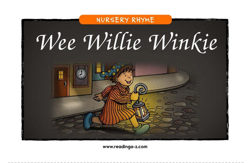 Book Preview For Wee Willie Winkie Page 1