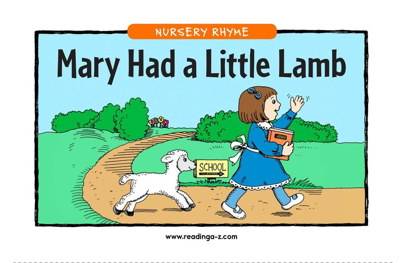 Book Preview For Mary Had a Little Lamb Page 1