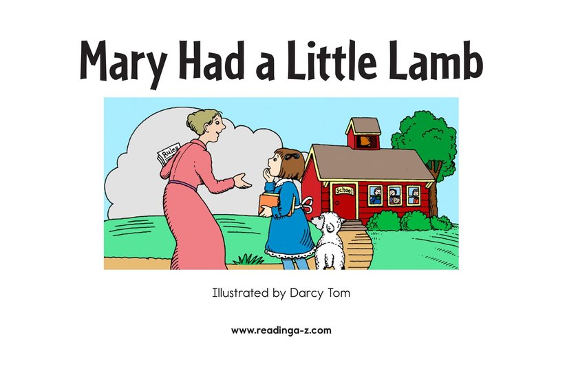 Book Preview For Mary Had a Little Lamb Page 2