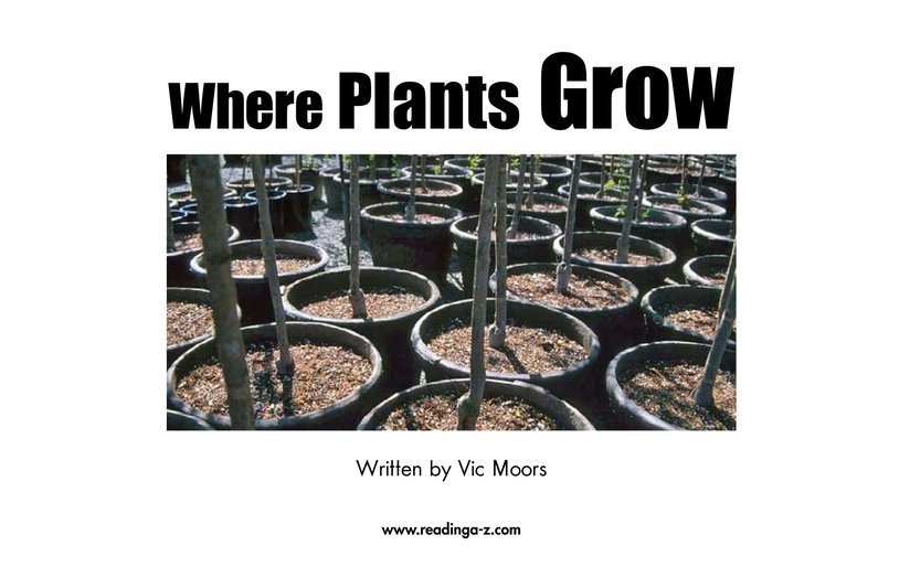 Book Preview For Where Plants Grow Page 2