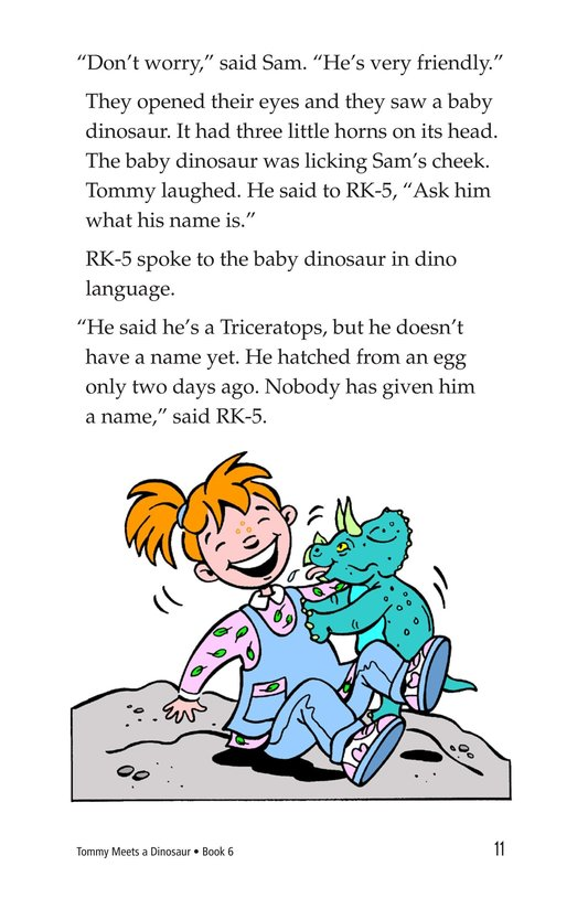 Book Preview For Tommy Meets a Dinosaur Page 11