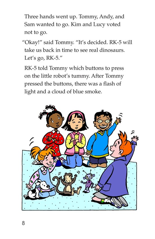 Book Preview For Tommy Meets a Dinosaur Page 8