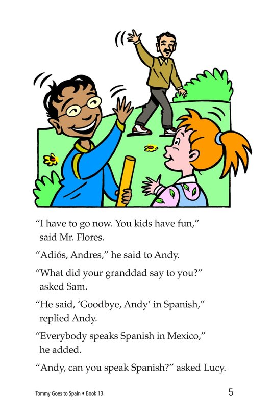 Book Preview For Tommy Goes to Spain Page 5