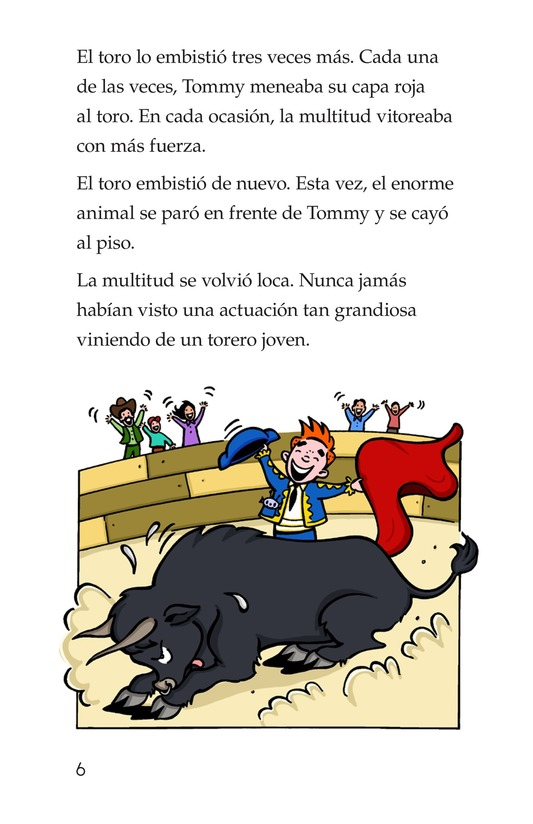 Book Preview For Tommy the Bullfighter Page 6