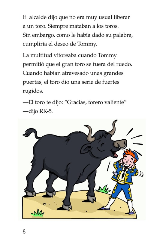 Book Preview For Tommy the Bullfighter Page 8