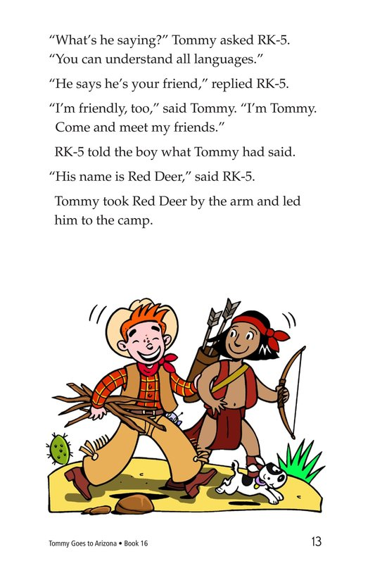 Book Preview For Tommy Goes To Arizona Page 13