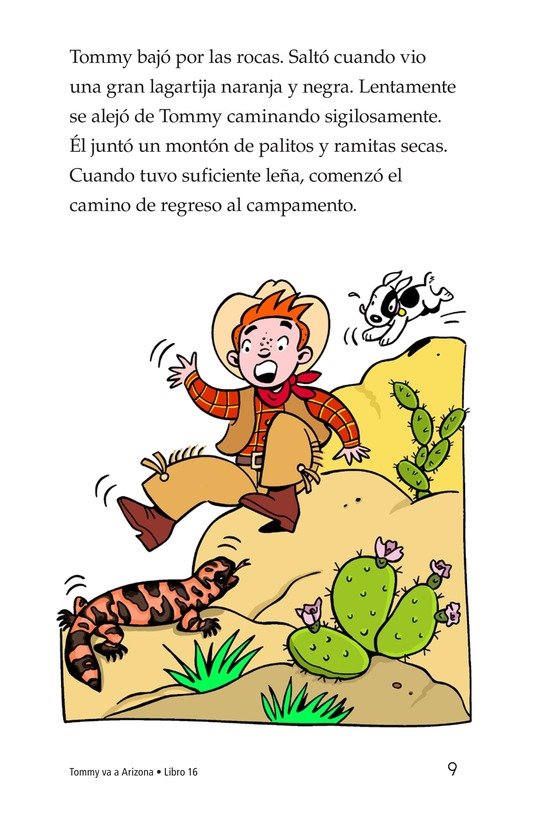 Book Preview For Tommy Goes To Arizona Page 9