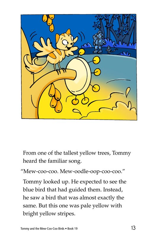 Book Preview For Tommy and the Mew-Coo-Coo Birds Page 13