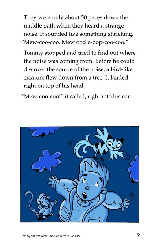 Book Preview For Tommy and the Mew-Coo-Coo Birds Page 9